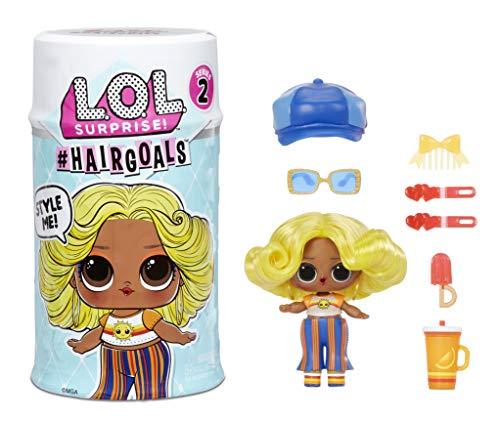 LOL Surprise Hairgoals Serie 2 - 15 Überraschungen im Inneren - Überraschungspuppe mit echtem Haar und Accessoires - Spaßiger Farbwechseleffekt - Sammlerstück