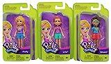 POLLY Pocket Shani, Purple & Polly Conjunto de 3 Figuras de Juego con Elegantes atuendos, para Jugar y coleccionar (Pantalones fijados )