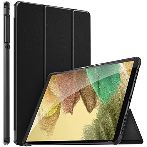 ELTD Hülle für Samsung Galaxy Tab A7 Lite 2021,Ultra Lightweight Flip mit Ständer & Eingebautem Magnet Hochwertiges PU Leder Schutzhülle für Samsung Galaxy Tab A7 Lite 8,7 Zoll 2021 (Schwarz)