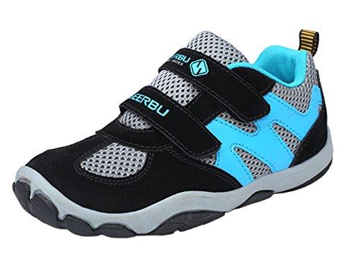WUIWUIYU - Zapatillas deportivas para niño, Negro (Negro ), 30 EU