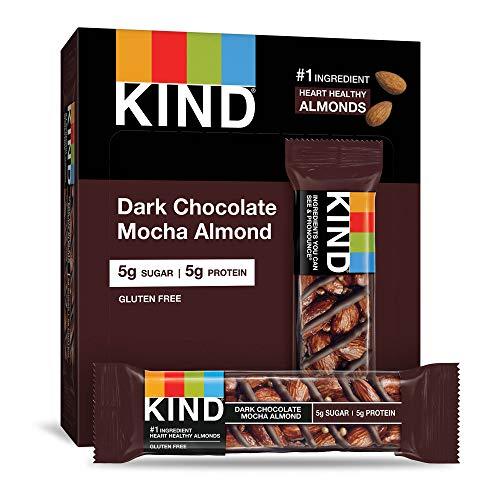KIND Bars Dark Chocolate Mocha Almond Gluten Free Low Sugar 14oz 12 Count