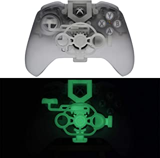 Xbox One Gaming Racing Wheel (Enhanced), 3D Printed Mini Steering Wheel add on for Xbox One X/Xbox One S/Elite Controller (Luminous Green)