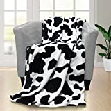 Cow Blanket -WISH TREE.Soft Kid Lightweight Blanket Throw with Cow Print for Baby Seat,Couch,Sofa.40x50 inch. Cow Bedding for Baby, Kids, Adults.