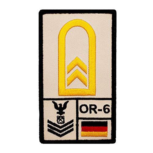 Café Viereck ® Oberbootsmann Marine B&eswehr Rank Patch mit Dienstgrad - Gestickt mit Klett – 9,8 cm x 5,6 cm