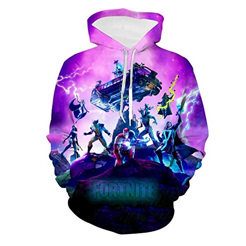Epic Games Fortnite Hoodies Youth Christmas Pullover Hooded Children Sweatshirts for Boys Girls Kids Youth L