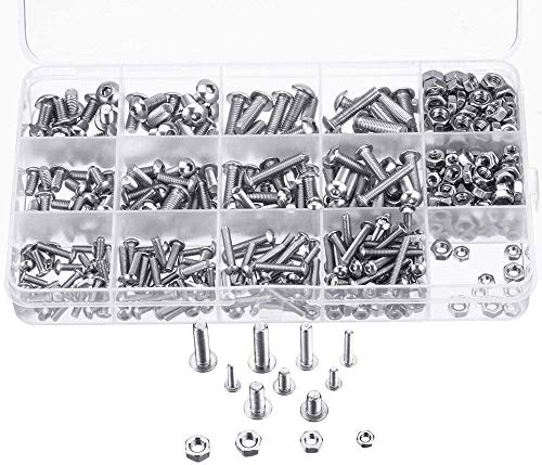 BOBAO 500PCS M3 M4 M5 304 de Acero Inoxidable Tuerca del Casquillo del Kit de los bulones de Cabeza Hueca Hexagonal 0910