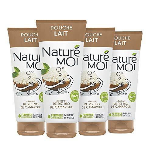 Naturé Moi – Lait de douche à l'extrait de riz bio – Hydrate et nourrit les peaux normales à sèches – 200ml