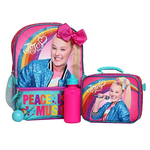 Girls 4PC Jojo Siwa Licensed Backpack and Lunch Set