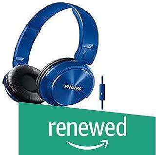 (Renewed) Philips SHL3095Bl/94 DJ Style Monitoring Headphone with Mic (Blue)