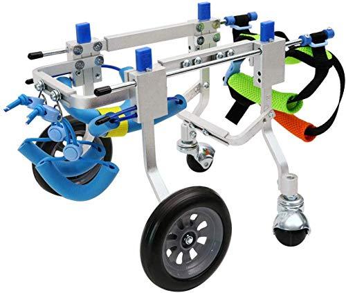 WOWOGA Pet Bag Hund Rollstuhl Vorder- und Hinterbeine Behinderte Auto Hilfsstützrahmen Pet Vierrädriger Roller