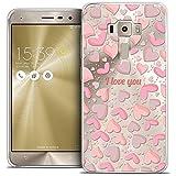 Funda Ultrafina para ASUS Zenfone 3 de 5,5 Pulgadas con Texto Love I Love You