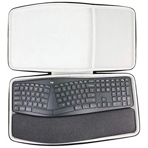 co2CREA Hart reiseschutzhülle Etui Tasche für Logitech Ergo K860 kabellose ergonomische Tastatur (Nur hülle)