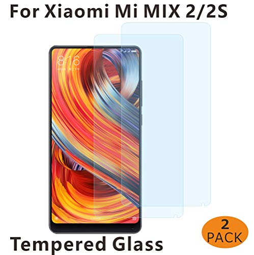 GoodcAcy [2 Stück] Premium Schutzglas Folie kompatibel mit Xiaomi Mi Mix 2S, 9H Festigkeit, Anti-Kratzen, Anti-Öl, Anti-Bläschen
