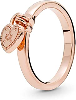 [PANDORA ] PANDORA Rose Love Lock 叠加 戒指 (潘多拉玫瑰) 正规进口商品