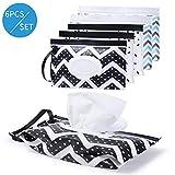 Dispensador de toallitas húmedas portátil – Estuche de toallitas para bebé, reutilizable, recargable, dispensador de toallitas de viaje, bolsa de pañales, bolsa de pañales, coche en el camino