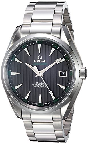 Omega Aqua Terra Chronometer Black Dial Stainless Steel Mens Watch 231.10.42.21.01.001: Watches