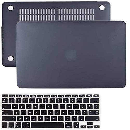 2020 Newest MacBook Pro13 Inch Case, IC ICLOVER Matte Frosted Rubberized Hard Shell Cover + Keyboard Skin Only Compatible with Apple MacBook Pro13.3 A2289/A2251 with Touch Bar/ID,Black