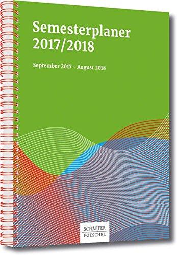 Semesterplaner 2017/2018: September 2017 - August 2018