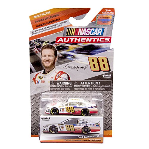 NASCAR 2014 Great Racers Edition Dale Earnhardt Jr #88 Red White Blue Paint Scheme National Guard Authentics 1/64 Scale Diecast