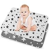 SunTop Cambiador de pañales portátil para bebé, Almohadilla De Cuna Impermeable Para Niños, Cambiador de Pañales Plegable Colchón Bebé Lavables Cama Para Bebés-50 * 70cm