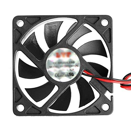 FKSDHDG Nuevo DC 12V 2-Pin 60x60x10mm PC Computadora CPU Sistema Ventilador de enfriamiento con cojinete de Manguito 6010