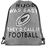 HCBDGG Sacs à cordon J'aime Le Sac Cinch De Rugby De Nouvelle-Zélande, Les Sacs À Dos À Cordon De Serrage Appropriés pour La Course Sportive