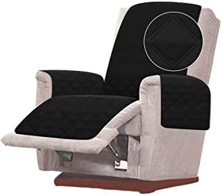 """Rose Home Fashion RHF Diamond Sofa Cover Couch Cover Recliner, Fabric, Mat Black/Grey, 28"""" Recliner-Oversized"""