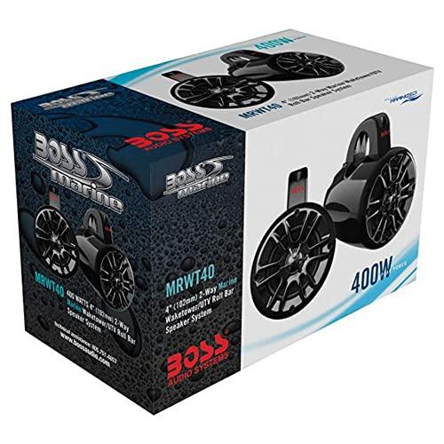 BOSS Audio Systems MRWT40 Marine Waketower Speaker System - 400 Watts of Power Per Pair, 200 Watts...