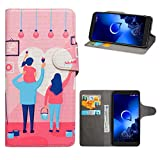 HHDY Compatible with Alcatel 1X 2019 Case,Flip PU Leather
