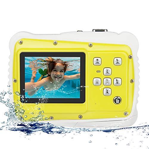 Digitalkamera Kinder, 12MP Wasserdicht Kamera mit LCD Bildschirm TFT 2 Zoll Video Spielzeug Camcorder Digital Zoom 8X