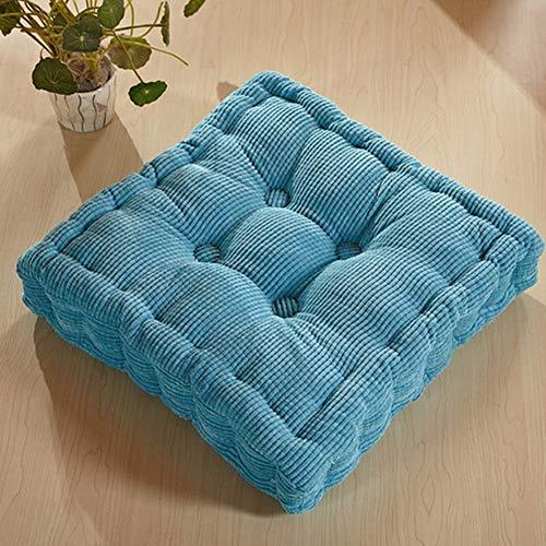 GJBHD Thicken Corduroy Tatami Mat,Office Quilted Chair Seat Cushion Futon Floor Mat Sofa Cushion Chair Pad Yoga Meditation Pad-a 48x48cm(19x19inch)