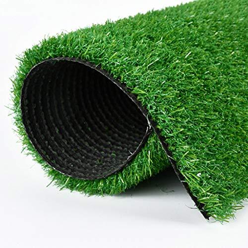CJJC Indoor Outdoor Kunstrasen, 35 mm Florhöhe, gefälschter Rasen mit hoher Dichte, natürliches und realistisches Aussehen, Partyhochzeitsgolfgartengebrauch 2x2m