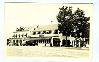 Town Hill Hotel Real Photo Postcard Cumberland Maryland 1930's Gas Pumps