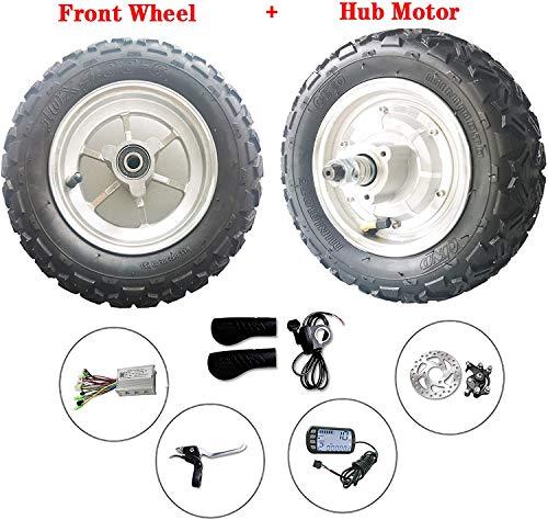 Electric Scooter Motor 10 inch 48v 500w/800w 12-50km/h Hub Motor kit Electric Scooter Wheelchair Motor Electric Bike Wheelbarrow (800W36V)