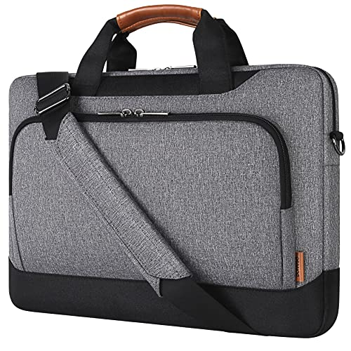 DOMISO 17-17.3 Inch Laptop Shoulder Bag Sleeve Case with Strap Compatible with 17' Computer, 17.3' HP Pavilion 17/MSI GS73VR Stealth Pro/Dell Inspiron 17, Dell/Acer/HP/MSI/ASUS PC Bag,Grey