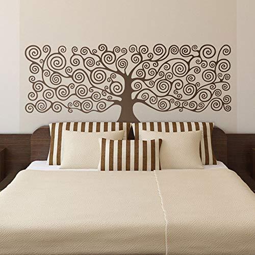"""Arte de pared grande inspirado en el""""árbol de la vida"""" de Klimt Etiqueta de pared de vinilo para la sala de estar Decoración Decoración de murales de cabecera de cama 110x42cm"""