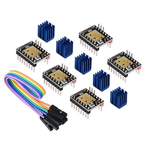 BIQU DIRECT 3D Printer Part Ultra Silent TMC2208 V3.0 Stepper Motor Driver Module with Heatsink for SKR V1.3 MKS GEN L Ramps 1.5/1.6 Control Board(pack of 5pcs) (Step/DIR Mode)