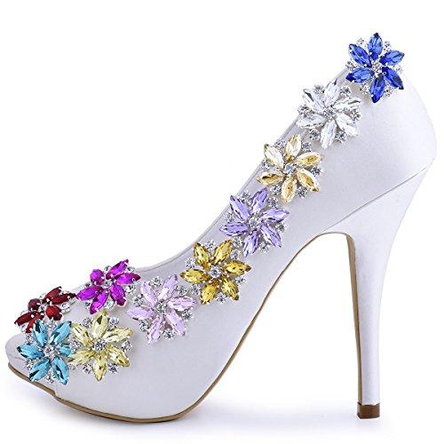 ElegantPark AJ Shoes Dress Hat Accessories Fashion Rhinestones Crystal Shoe Clips 2 Pcs Lavender