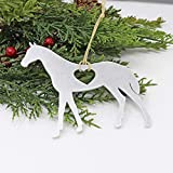 Horse Ornament - Aluminum Metal Christmas Tree Holiday Party Decorations Decor Gift