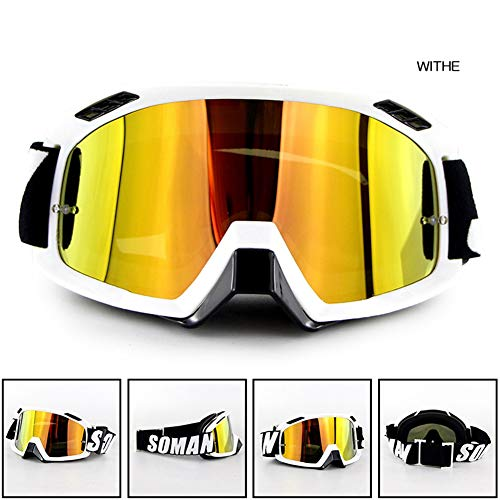 RONSHIN Motorhelm Outdoor Riding Skibril SM15 Langlaufbril Kleur: wit