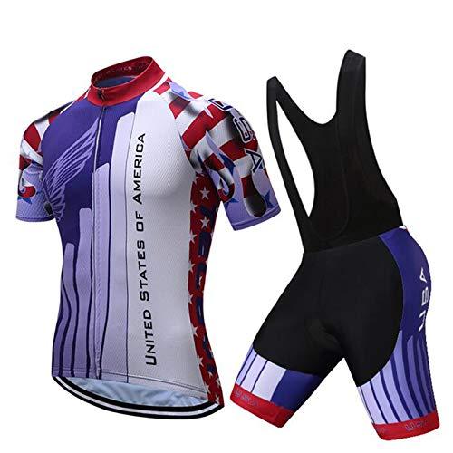 QWA Maillot de Ciclismo para Hombre, Transpirable Camiseta de Ciclismo de Montaña,...