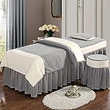 XKun Funda de cama de belleza de cuatro piezas de alta calidad simple falda de cama de belleza 70 x 185 cm