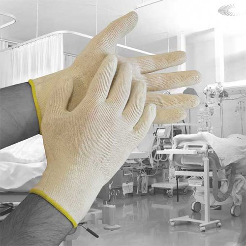 Bodyguards dera03Polyco Dermatologie Baumwolle Handschuhe, 1Paar, Gr. 9/L, natur