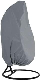 Outdoor Patio Hanging Chair Cover, Heavy Duty Egg Swing Chair Covers Dust Cover, Outdoor Garden Waterproof Protector YZZ13 (grey)