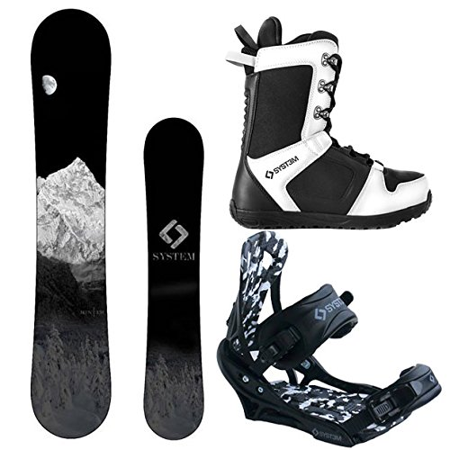 System MTN and APX Complete Men's Snowboard Package (158 cm Wide, Boot Size 11)