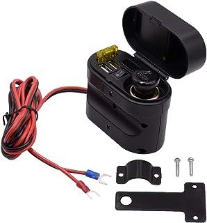 F Fityle 1 Stück Ladegerät Wasserdichtes Abdeckungsdesign mit Lenkerhalterung Motorrad USB Ladegerät