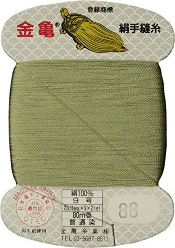 手縫い糸 『絹糸 9号 80m カード巻き 88番色』 金亀糸業