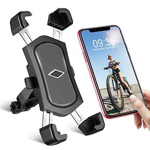 Cocoda Handyhalterung Fahrrad, Abnehmbare Edelstahl Handyhalterung Motorrad, 360° Verstellbare Universal Handyhalter Fahrrad für Lenker, Anti-Shake Handy Fahrradhalterung für 4,5-7,2 Zoll Smartphone