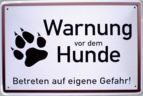 Warnung vor dem Hunde Blechschild, 30 x 20 cm