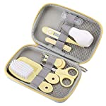 FAMKIT Baby Health Care Kit, 8Pcs Baby Nail Clipper Set Scissors Hair Brush Comb Manicure Care Set